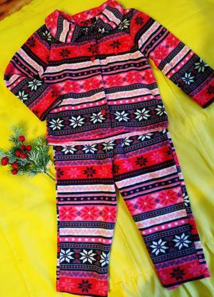 Пижама флис 2-3 года
