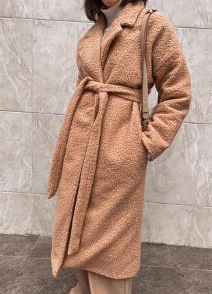 Пальто шерсть букле с утепленной подкладкой