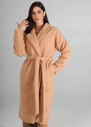 Пальто шерсть букле на утепленной подкладке