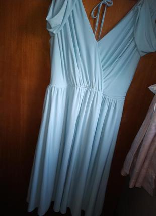 Платье миди asos небесного цвета