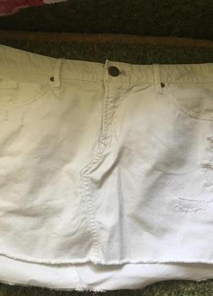 Джинсовая белая юбка gap