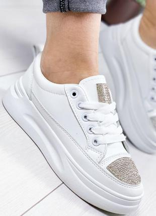 Кроссовки женские shine белый