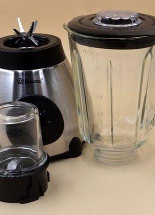 Стационарный блендер со стеклянной чашей Domotec 1000 вт