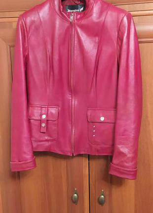 Куртка женская кожаная р.48