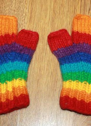 Гловелетты мужские перчатки без пальцев разноцветные gringo ше...
