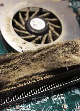 Чистка (профилактика) системы охлаждения ноутбука