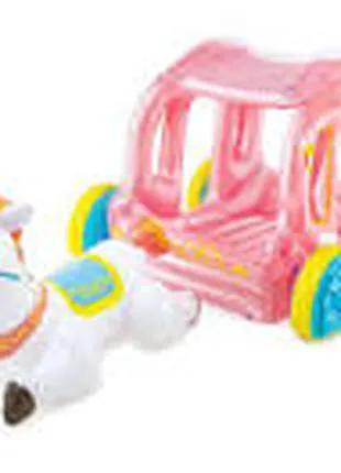 Надувной игровой центр - карета Intex 56514 с надувной лошадкой (