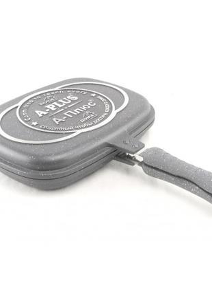 Сковорода-гриль A-PLUS 1502 двухсторонняя с мраморным покрытием
