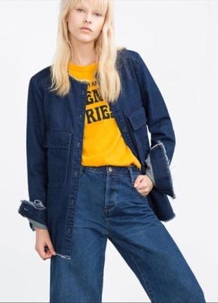 Фирменная куртка из плотного джинса zara