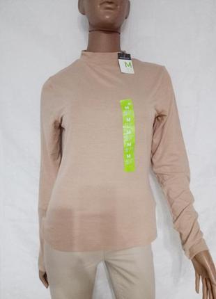Женский гольф, кофта нюдового цвета