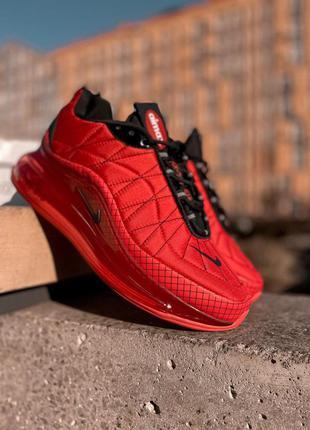 Демисезонные мужские кроссовки nike 720 в красном цвете /осень...