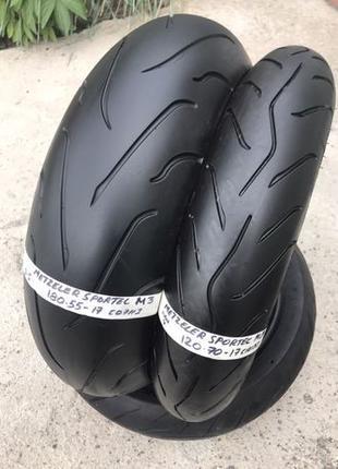 Мото резина гума Metzler M3 180/55-17 120/70-17 R17 Germany мо...