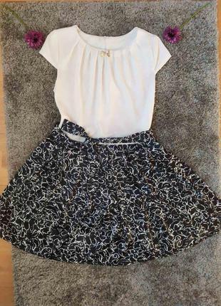 Платье черно-белое 👗