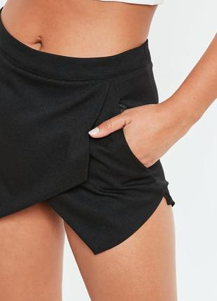 Классические черные юбка-шорты мини
