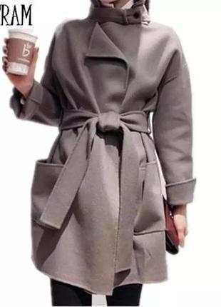 Женское весенне-осеннее шерстяное пальто-накидка