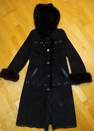 Природный натуральный мех пальто женское меховой воротник 100%...