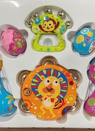 Детский набор погремушек 3102 набор Музыкальные инструменты