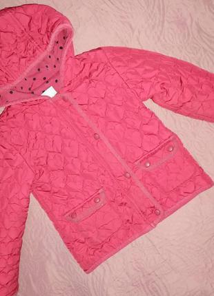 ❤️ куртка осень/весна для девочек с вышивкой в виде сердца