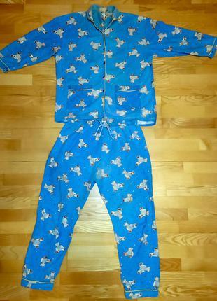 Пижамный костюм с длинными рукавами, одежда для сна