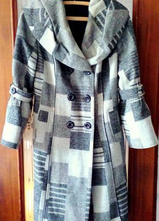 Стильное теплое пальто, р.52(xxl)