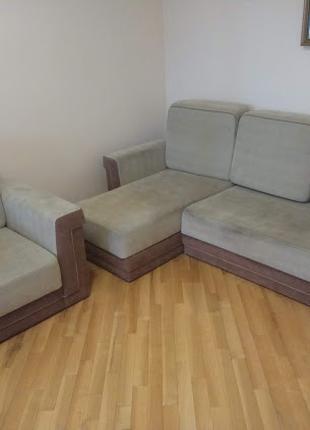 Комплект розкладний диван і крісло