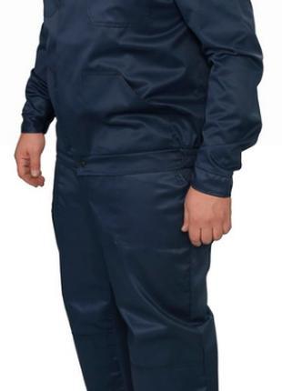 Костюм рабочий модельный брюки+куртка, тк. Грета т.син. (53% хб)