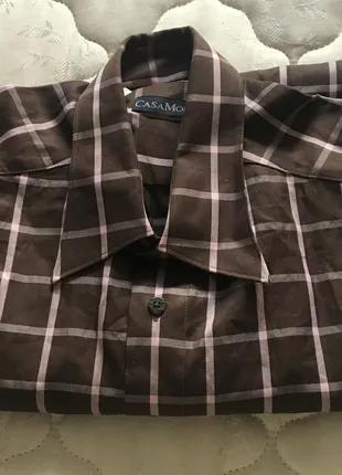 Новая рубашка в клетку, размер l.Бренд CasaModa