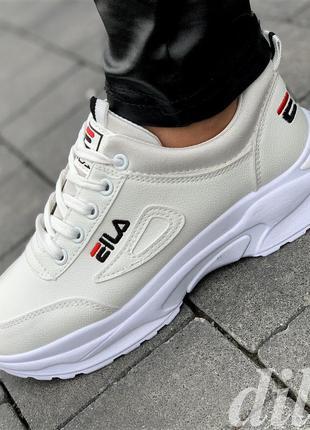 Женские кроссовки белые модные удобные