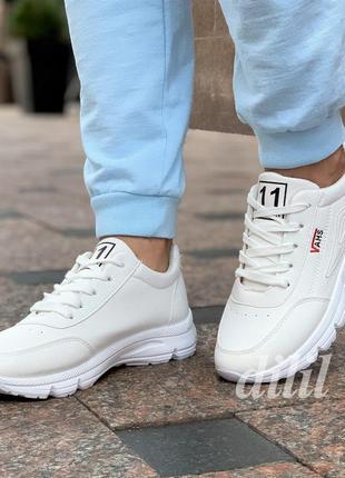 Женские кроссовки vans белые модные