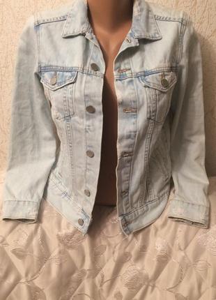 Крутая джинсовая куртка denim co.