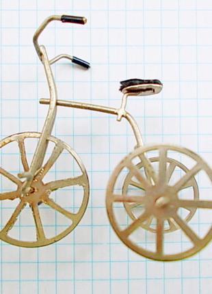Мини модель старинного велосипеда ручная работа Германия