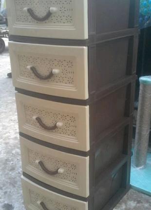 Пластиковый комод, органайзер, тумбочка, шкафчик на 5 ящиков