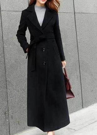 Элегантное женское шерстяное пальто осень зима