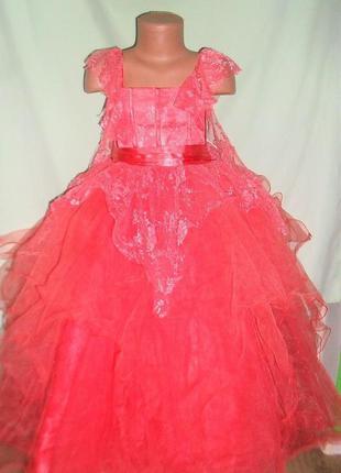 Шикарное нарядное платье на 6лет