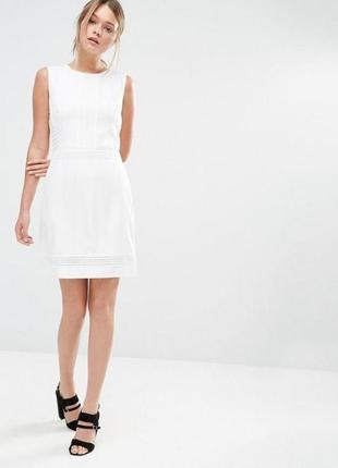 Идеальное белое платье мини а-силуэта от oasis