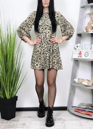 Платье в цветы в винтажном стиле zara
