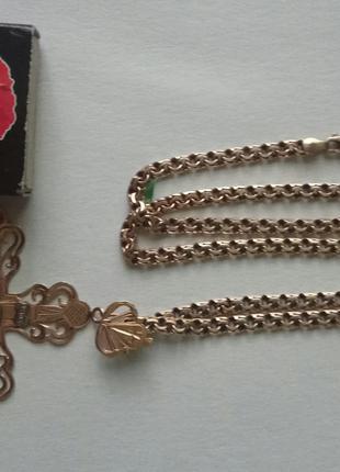 Золотий ланцюжок з хрестиком