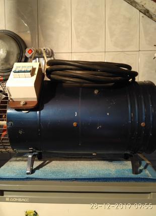 Продам электрический воздушный калорифер 220 v. три тены по 2 КВ