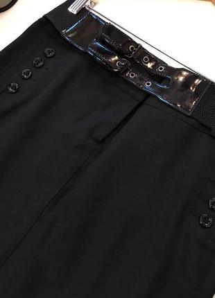 Шикарная деловая мини юбка с декоративными пуговицами и поясом...