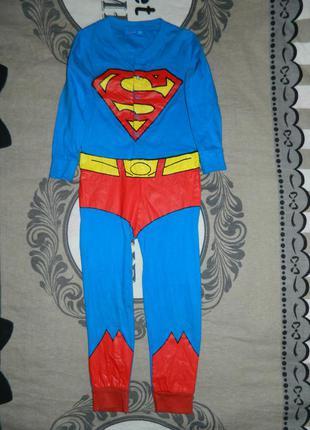 Человечек слип детский костюм супермен на мальчика 5-6 лет pri...