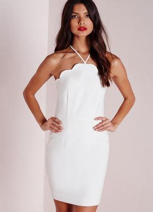 Стильное летнее легкое платье мини с отделкой