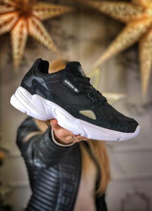 Шикарные женские кроссовки adidas falcon black унисекс 😍 (весн...