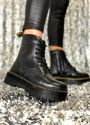 Женские зимние кожаные ботинки/ сапоги dr. martens jadon fur н...