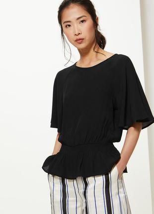 Marks&spencer универсальная базовая блуза из вискозы, р.12-40,...