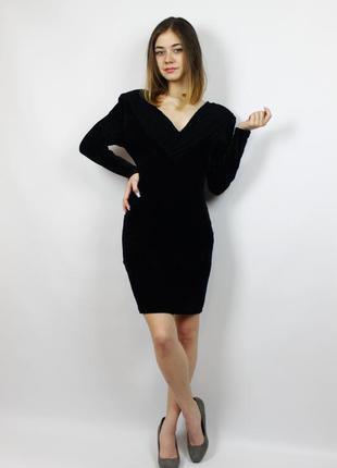Роскошное велюровое вечернее платье с вырезом, открытой спиной...