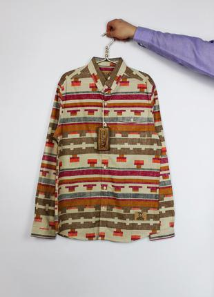 Оксфорд oxford классическая мужская рубашка в орнамент cloak. ...