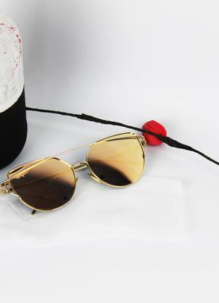 Тренд! женские черные солнцезащитные очки авиаторы капельки