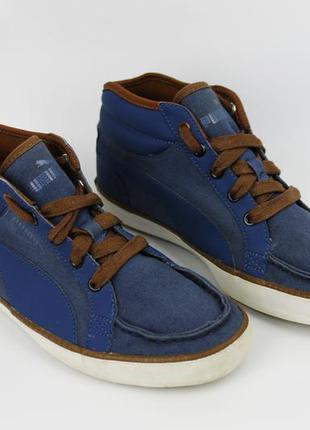 Высокие кеды мокасины мужские кроссовки puma размер 40 (25.5 см)