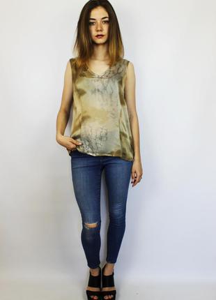 Шикарная легкая дышащая стильная шелковая блуза майка bogner и...