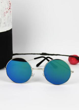 Женские круглые солнцезащитные очки под винтаж vintage с сереб...